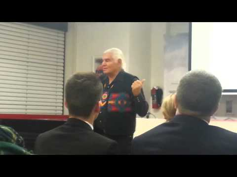Ben Sherman talks at the US Embassy in Vienna: Education and Dances with wolves