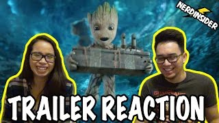 GUARDIANS OF THE GALAXY VOL 2 Official Teaser Trailer #2 REACTION
