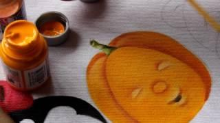 Pintura em tecido ROSTINHO DA ABÓBORA