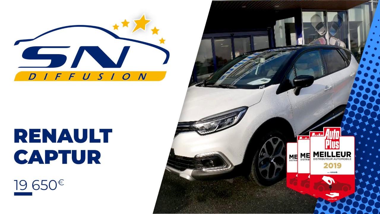 Renault Captur Blanc Nacre Tce 130 Intens R Link Toit Noir