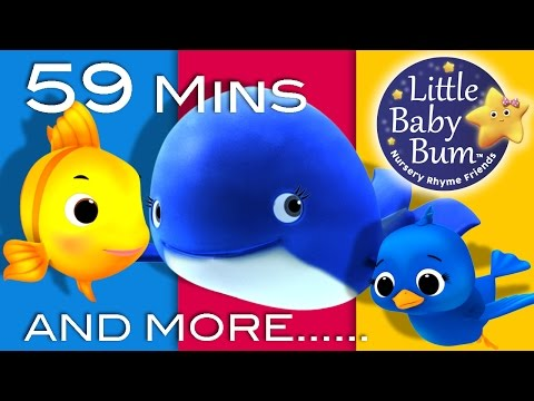 Thumbnail: The Little Blue Whale | Plus Lots More Nursery Rhymes | 59 Minutes Compilation from LittleBabyBum!