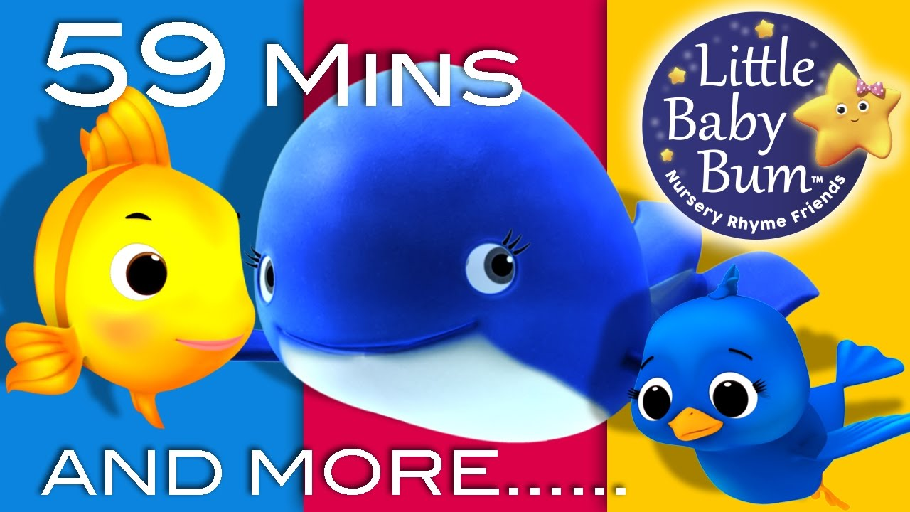 The Little Blue Whale Plus Lots More Nursery Rhymes 59 Minutes Compilation From Littlebabybum