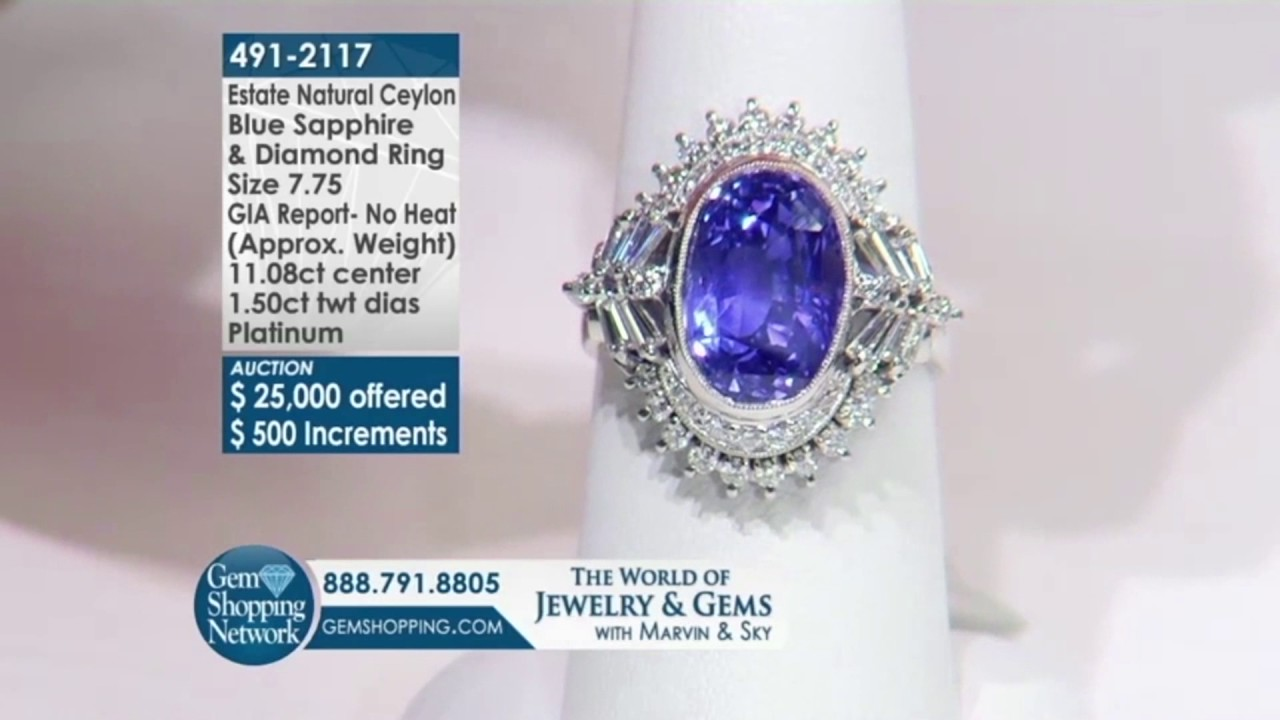 Gems Tv Live Auction Room Part - 30: Estate Sapphire Ring Auctioned On Live TV L Gem Shopping Network