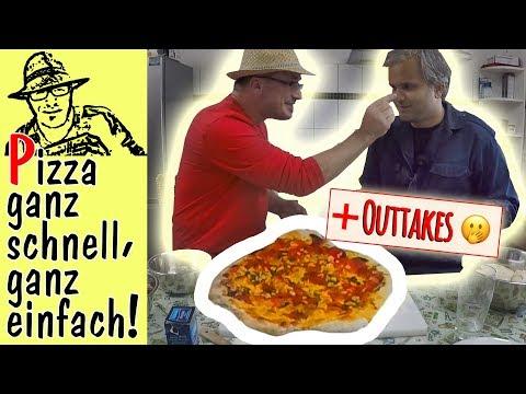 Rezept Pizzateig schnell und einfach