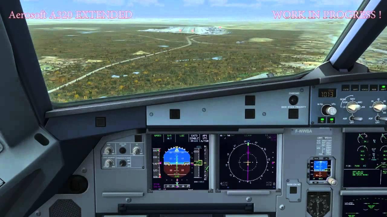 Aerosoft Airbus A320 Extended Beta - ILS Intercept & Autoland