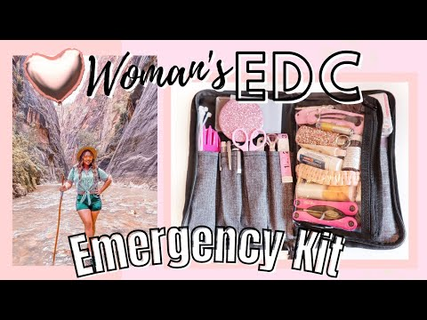 Womans EDC BAG 2021   FEMALE EVERYDAY CARRY EMERGENCY KIT   AMAZON & DOLLAR TREE PRODUCTS WITH LINKS