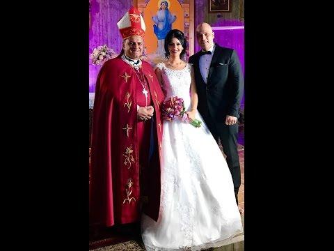 CHORBISHOP CHARLES SAAD CELEBRATING Dr. PAUL & MARIANNE'S WEDDING APRIL 23, 2017