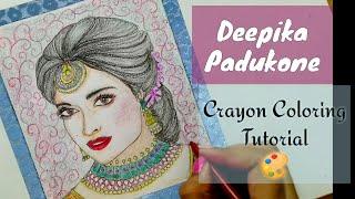 #deepikapadukone  Deepika Padukone |bride| CRAYONS colouring tutorial {Speed paint} Fanart series#3