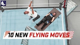 WWE 2K18 Top 10 New High Flying Moves (Animations) thumbnail