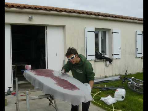 construction d 39 un surf standup paddle par ben youtube. Black Bedroom Furniture Sets. Home Design Ideas