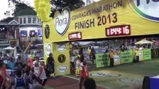 Comrades Marathon 2013 Final Cut-off - Runner secretly tries to cross finish