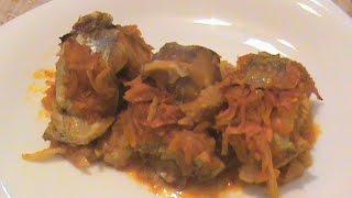 Рыба тушеная с овощами и геркулесом ( постное)
