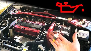EVO Oil Dash Light // How to change a Mitsubishi EVO 8 Oil Pressure Switch