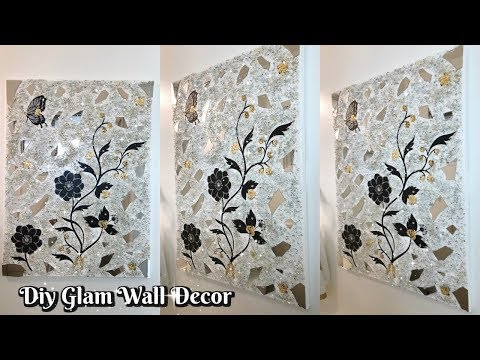 DIY GLAM DECORATIVE WALL DECOR | EASY & INEXPENSIVE | HOME DECOR IDEAS