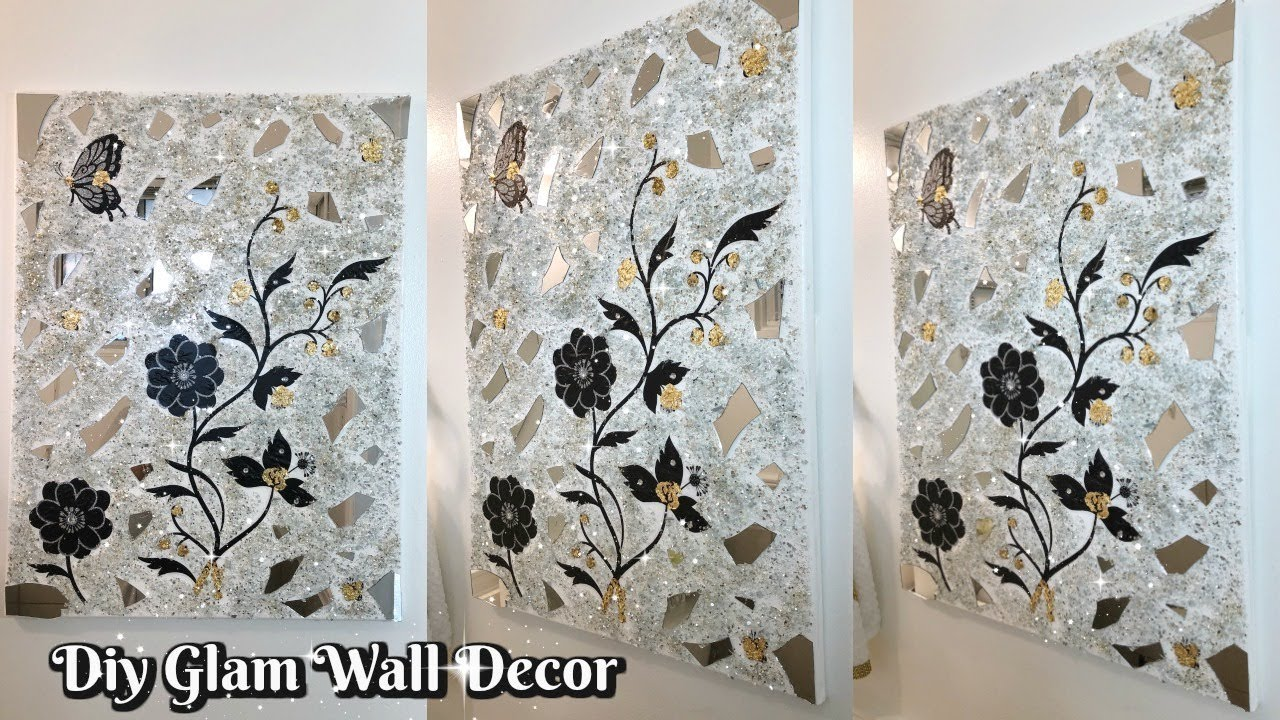 Diy Glam Decorative Wall Decor Easy Inexpensive Home Decor Ideas