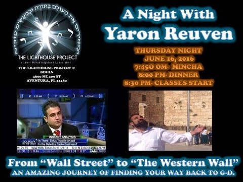Rabbi Yaron Reuven is coming to the Lighthouse Project Tonight. Don't miss it!!!