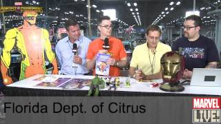 The Florida Department of Citrus Unveil a New Character on Marvel LIVE! at NYCC 2014