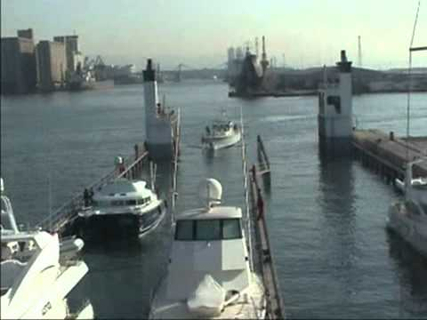 """SUPER SERVANT 4"" - Loading of 8 yachts - Barcelona 2002 / Marine Surveyors Barcelona"