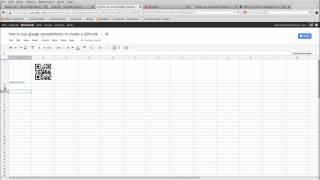 hoe maak je een QR code in een google-spreadsheet