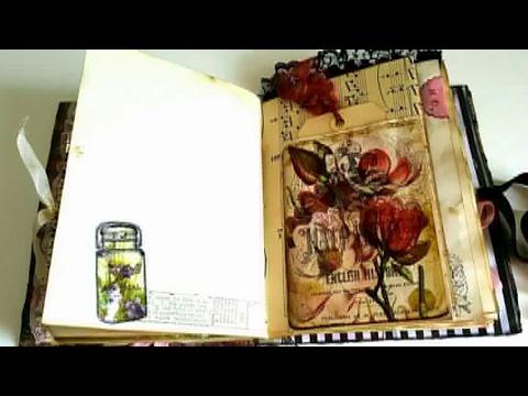 *sold* Polished Lackluster Junk Journal - Tsunami Rose Design Team - November 2016 Project
