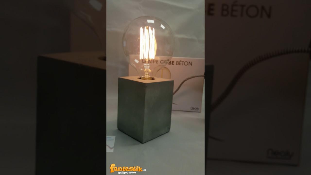 Lampada In Cemento Fai Da Te : Lampada stile industriale da tavolo fantastik youtube