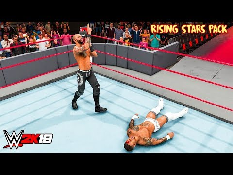 WWE 2K19 - Ricochet vs Lio Rush Rising Stars Pack DLC (New Moves) |