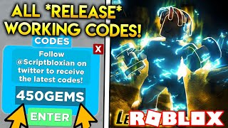 ALL MUSCLE LEGENDS *RELEASE* CODES!! (GET 450 GEMS!) | ROBLOX