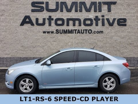 2012 CHEVROLET CRUZE LT1 RS STICK SHIFT ICE BLUE METALLIC WALK AROUND REVIEW 20J106A SUMMITAUTO.com
