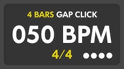 50 BPM - Gap Click - 4 Bars (4/4)