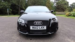audi a3 2 0 tdi s line black edition 170 walkaround