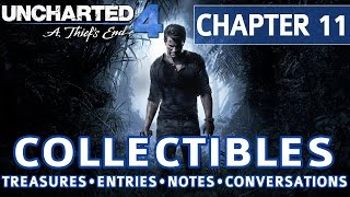 uncharted 4 chapter 11 all collectible locations treasures journal entries notes conversations