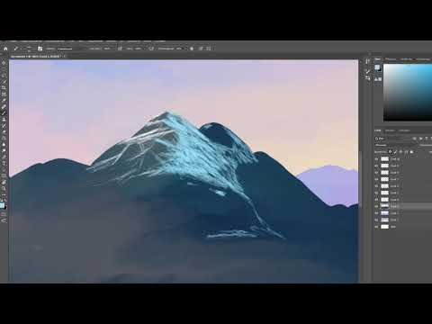 Рисуем горы в программе Adobe Photoshop СС 2019