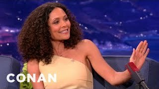 Thandie Newton Is A Crotch-Smasher - CONAN on TBS