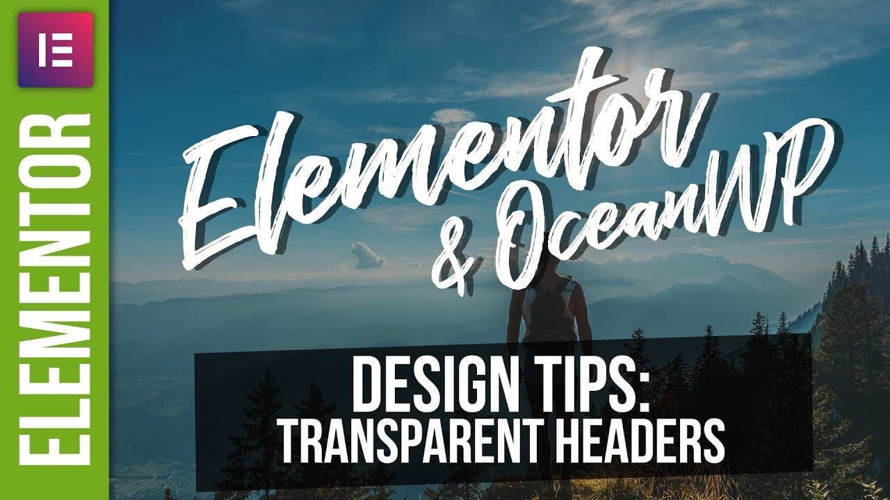 Tutorial transparent header simple template
