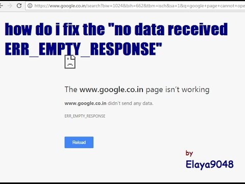 How to Fix ERR_EMPTY_RESPONSE – No Data Received - Solved
