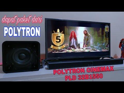 POLYTRON SINEMAX SOUNDBAR PLD 32B1550,,Solusi Tv+soundbar Hrg Murah & GLERRR,,,!!