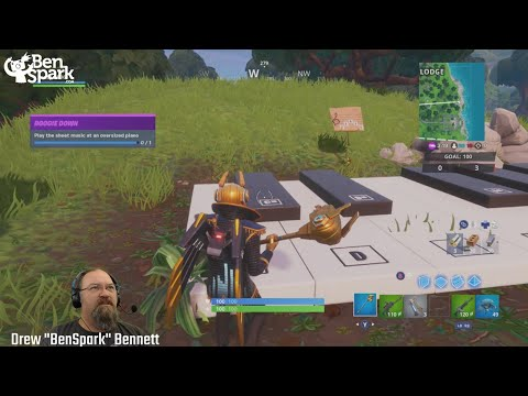 Play The Sheet Music At An Oversized Piano - Fortnite Boogie Down Prestige Challenge