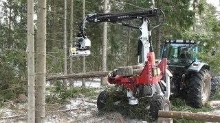 HYPRO 755 Hjulburen Traktorprocessor & HYPRO FG45 Fällgrip / Felling Grapple