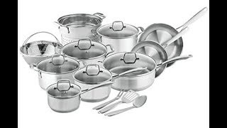 Top 7 Best Cookware Sets Reviews 2018. Cool Stainless Steel Sets. Best Goods for Kitchen