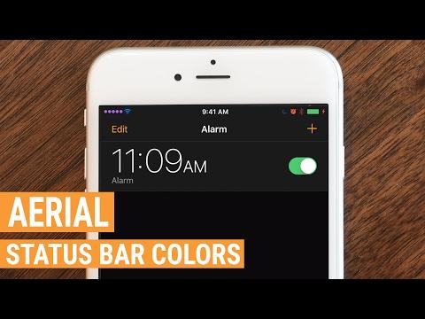 Tweak: Aerial Brings Colors to Your Status Bar