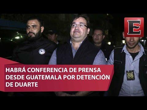 Alistan Conferencia De Prensa Desde Guatemala Por Detención De Duarte