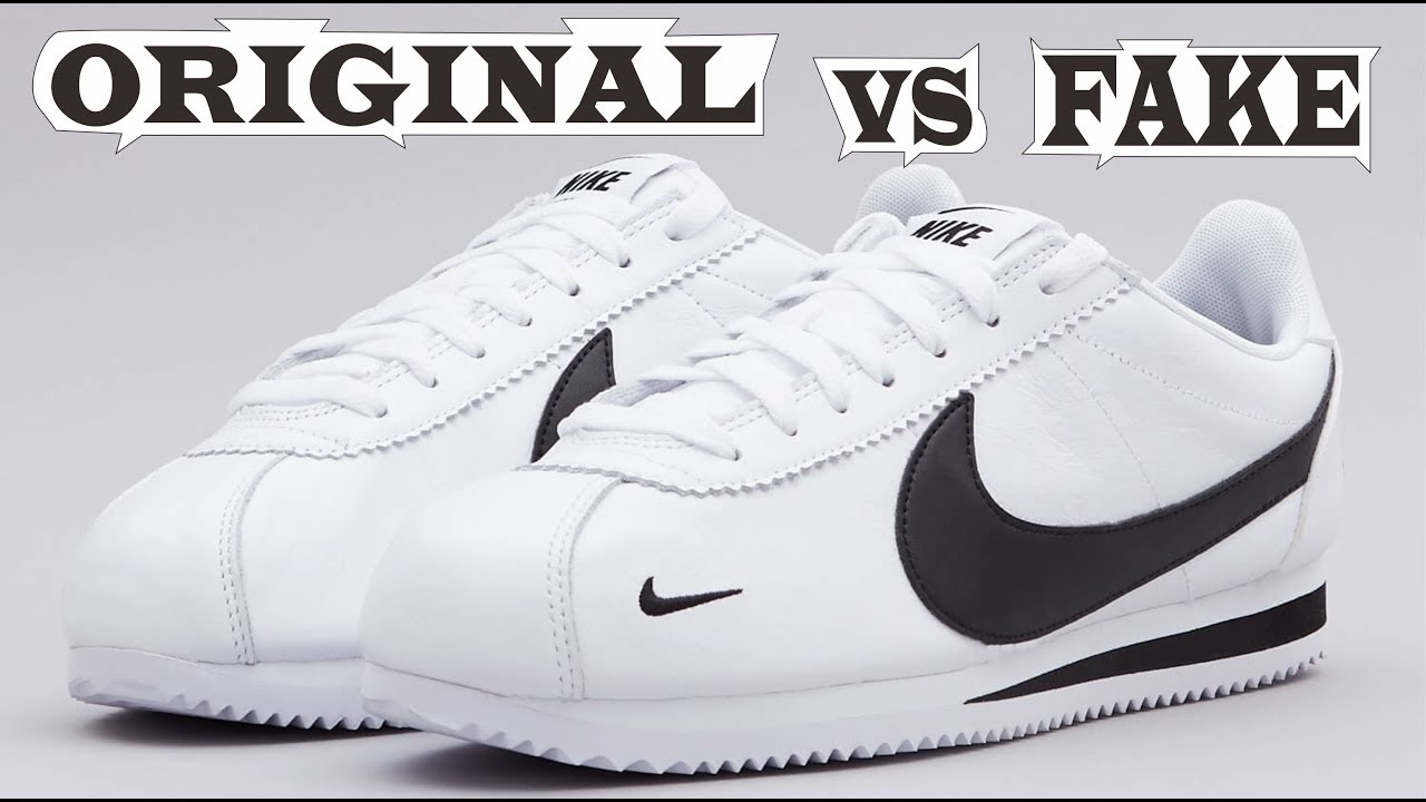 Nike Cortez Classics Swoosh Original & Fake - YouTube