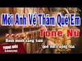 Gambar cover Karaoke Mời Anh Về Thăm Quê Em Tone Nữ Nhạc Sống   Trọng Hiếu