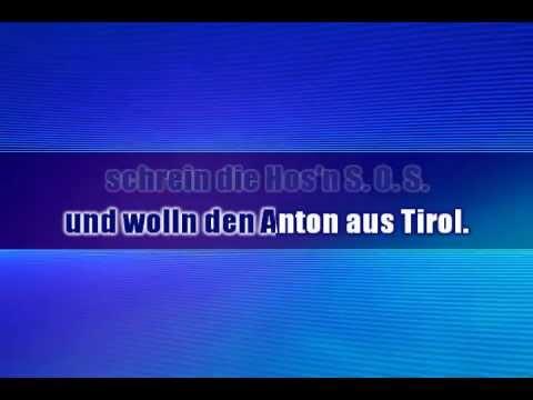 DJ Ötzi - Anton aus tirol - Karaoké instrumental