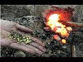 Primitive Technology: building a Metal Furnace Copper (Cu)