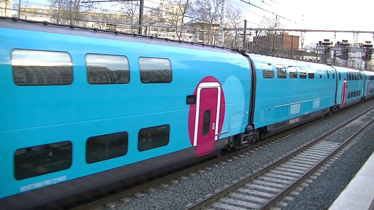 1 train tgv ouigo duplex 760 3 trains ter r gion rh ne for Interieur ouigo