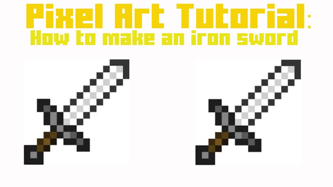 Pixel Art: How to make an iron sword - YouTube