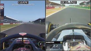 F1 2018 vs Real Life - Silverstone Early Onboard Lap Comparison
