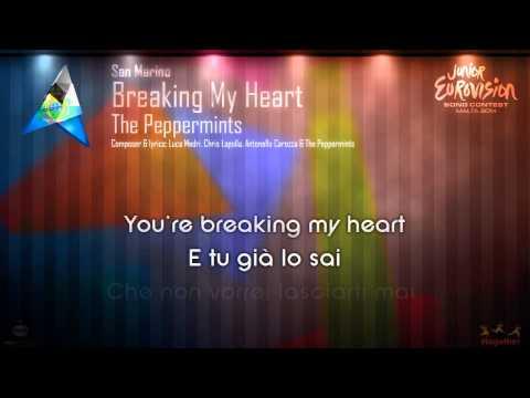 """The Peppermints - """"Breaking My Heart"""" (San Marino) - [Karaoke version]"""