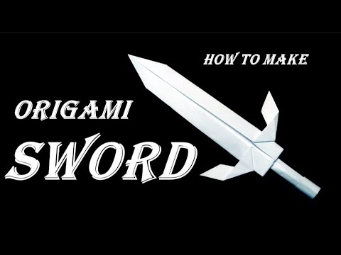 How to make a Sword out of paper. Origami Sword